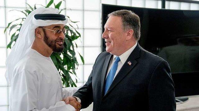 گفت وگوی تلفنی وزیر خارجه آمریکا با ولیعهد ابوظبی
