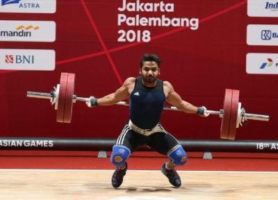 اوت شدن عسگری در گروه B دسته 69 گیلوگرم وزنه برداری بازی های آسیایی