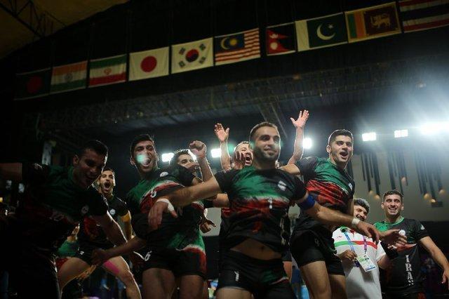 پایکوبی کبدی بازان ایران در جاکارتا با آهنگ مازندرانی