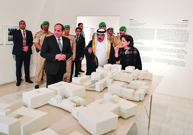 سیسی با پادشاه بحرین در منامه دیدار کرد