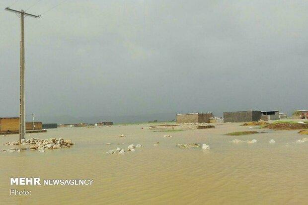 جاری شدن سیل در 3 روستای شهرستان کوهرنگ