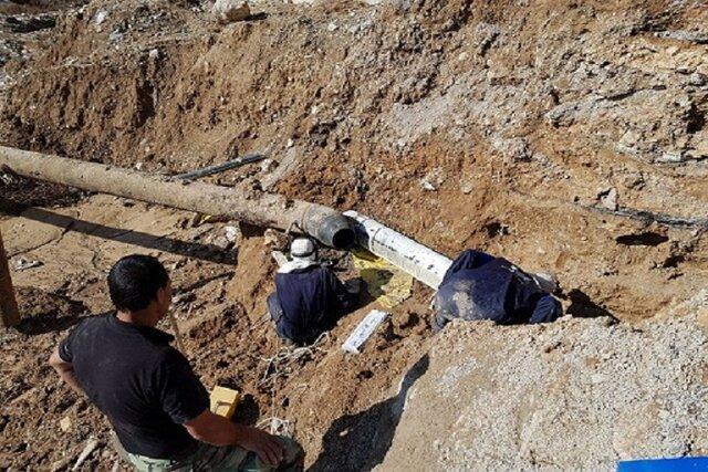 رانش زمین در محل خط انتقال آب از سد شیرین دره به بجنورد