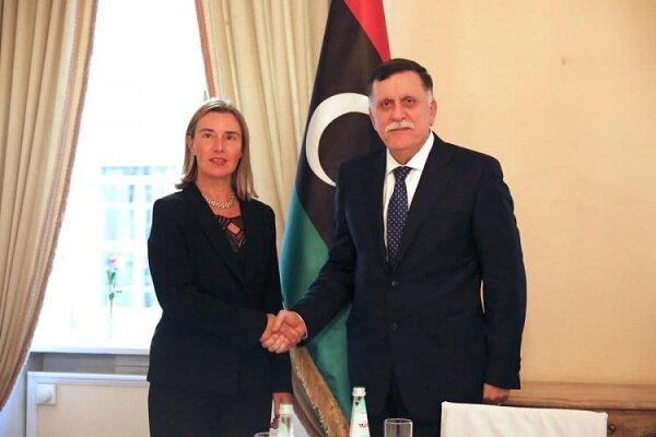 دیدار موگرینی با السراج درباره تحولات لیبی