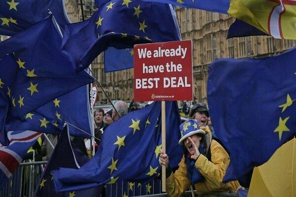 برگزاری تظاهرات مخالفان برگزیت در خیابان های لندن