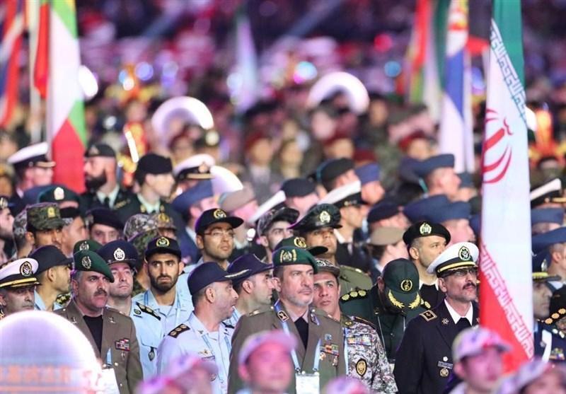 برگزاری مراسم افتتاحیه مسابقات نظامیان دنیا در چین