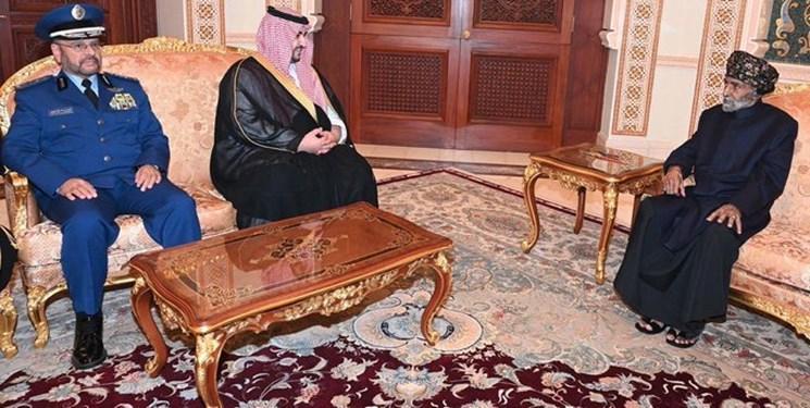 دیدار معاون وزیر دفاع سعودی با سلطان قابوس