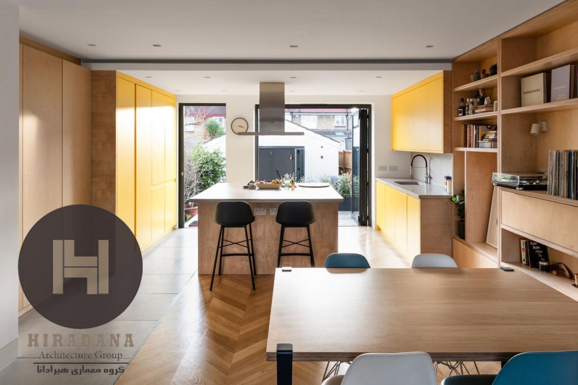 بازسازی و طراحی خانه ای سه طبقه در لندن انگلیس