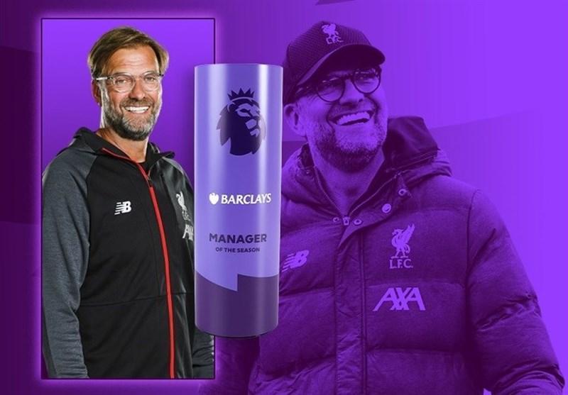 کلوپ بهترین سرمربی فصل 20-2019 لیگ برتر انگلیس شد