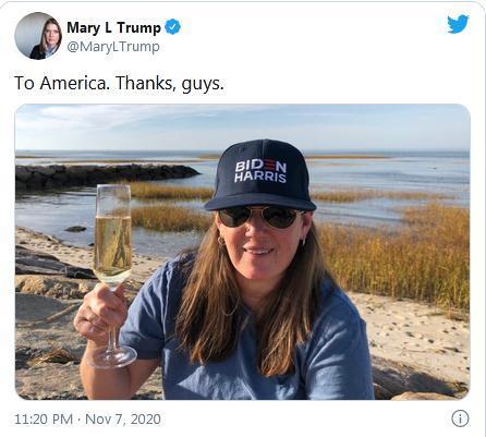 شادمانی بردارزاده ترامپ از شکست عمویش در انتخابات