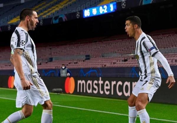 لیگ قهرمانان اروپا، یوونتوس با گل های رونالدو، صدر جدول را از بارسلونا گرفت، حذف منچستریونایتد و نیمه کاره ماندن بازی پاری سن ژرمن