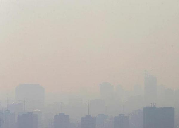 شاخص کیفیت هوای تهران؛ مناطق قرمز