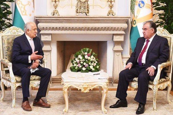 خلیل زاد با رئیس جمهور تاجیکستان ملاقات کرد